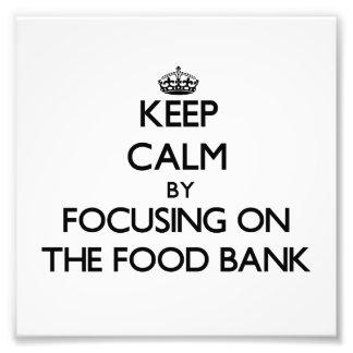 Behållalugn, genom att fokusera på maten, packar i fotokonst
