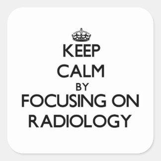 Behållalugn, genom att fokusera på radiologi fyrkantigt klistermärke