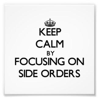 Behållalugn genom att fokusera på sida beställer