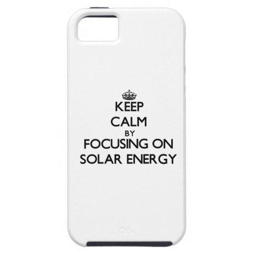 Behållalugn, genom att fokusera på sol- energi iPhone 5 hud