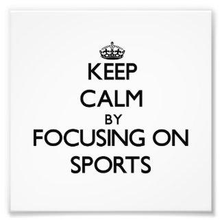 Behållalugn, genom att fokusera på sportar konstfoto