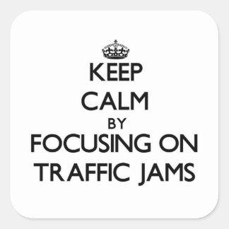 Behållalugn genom att fokusera på trafikstockning