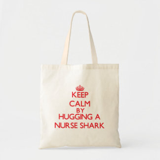 Behållalugn, genom att krama en sjuksköterskahaj tote bag