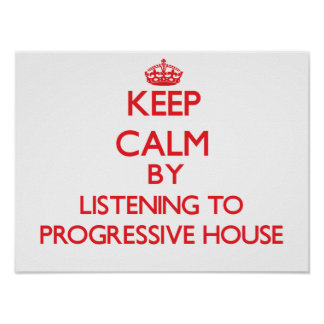 Behållalugn, genom att lyssna till det PROGRESSIVA Affischer