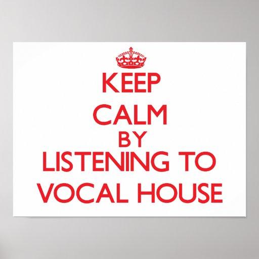 Behållalugn, genom att lyssna till det RÖST- HUSET