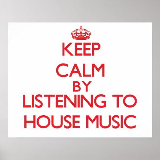 Behållalugn, genom att lyssna till HUSMUSIK Affisch