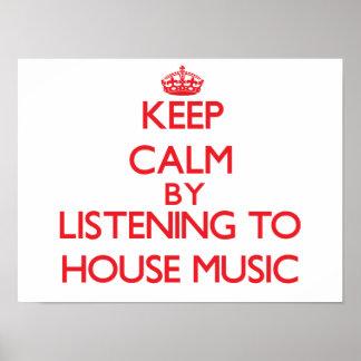Behållalugn, genom att lyssna till HUSMUSIK Poster
