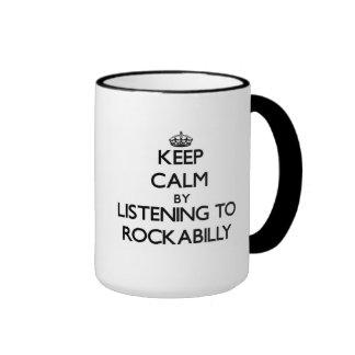 Behållalugn, genom att lyssna till ROCKABILLY Ringer Mugg