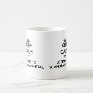Behållalugn, genom att lyssna till SKANDINAVISK ME Kaffe Muggar