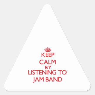 Behållalugn, genom att lyssna till SYLTMUSIKBANDET Triangle Stickers