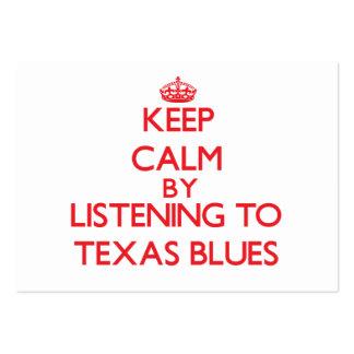 Behållalugn, genom att lyssna till TEXAS DEPPIGHET Visitkort