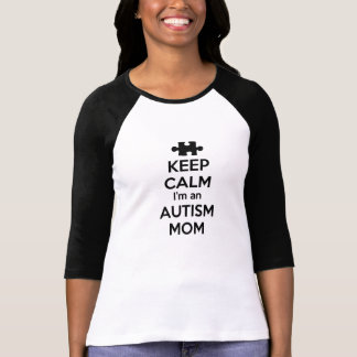 Behållalugn mig förmiddag en Autismmamma T Shirts