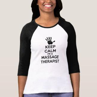 Behållalugn mig förmiddag en massageterapeut tröjor
