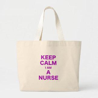 Behållalugn mig förmiddag en sjuksköterska tote bags