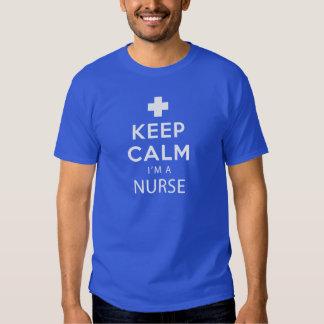 Behållalugn mig förmiddag en sjuksköterska t-shirt