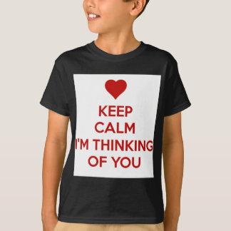 Behållalugn mig förmiddag som är tänkande av dig tshirts
