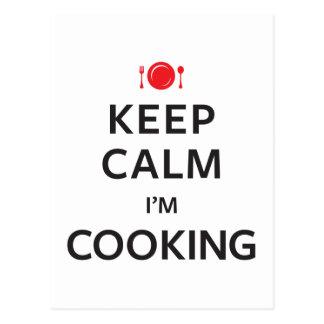 Behållalugn mig laga mat för förmiddag vykort