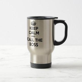 Behållalugn och appell chefen kaffe mugg