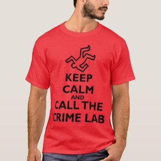 Behållalugn och appell det brotts- labbet t shirt