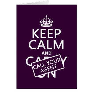 Behållalugn och appell din agent (någon färg) hälsningskort
