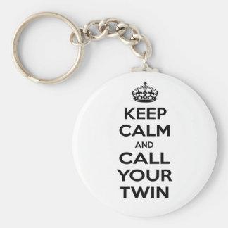 Behållalugn och appell ditt tvilling- rund nyckelring