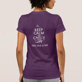 Behållalugn och appell en lokalvårddam tee shirt