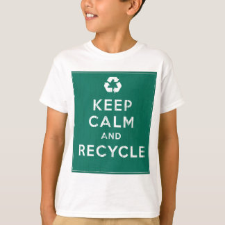 Behållalugn och återvinna tee shirt