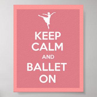 Behållalugn och balett på affischen affisch