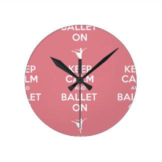 Behållalugn och balett på rund klocka