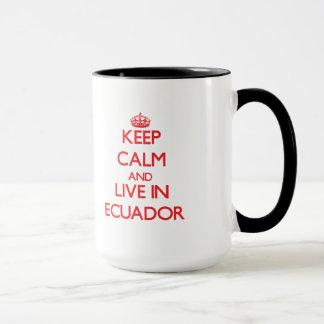 Behållalugn och bor i Ecuador Mugg