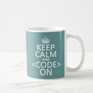 Behållalugn och <Code> På - allt färgar Kaffemugg