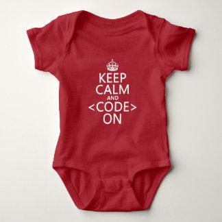 Behållalugn och <Code> På - allt färgar Tröja