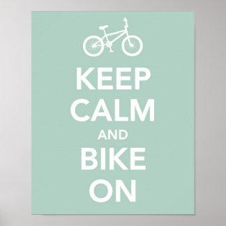 Behållalugn och cykel på poster