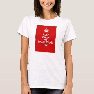 Behållalugn och Dalmatian på T Shirts