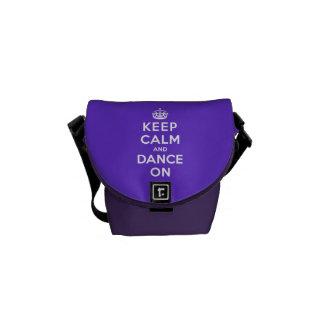 Behållalugn och dans på kurir väska