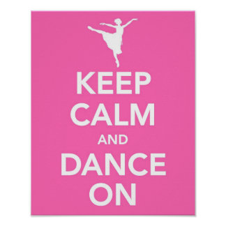 Behållalugn och dans på tryck poster
