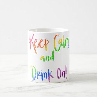 Behållalugn och drink på kaffemugg