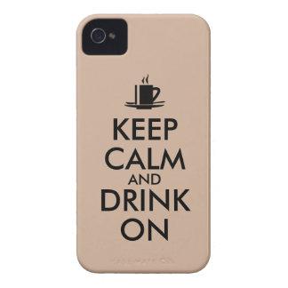 Behållalugn och drink på kaffeTeaanpassade iPhone 4 Case-Mate Fodral