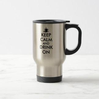 Behållalugn och drink på kaffeTeaanpassade Resemugg