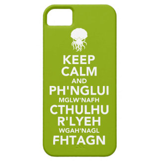 Behållalugn och Fhtagn iPhone 5 Cover