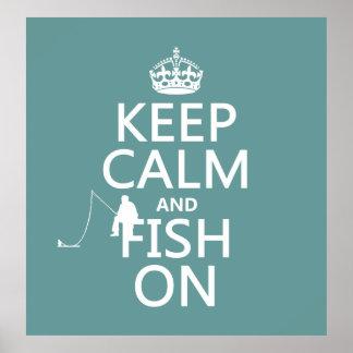 Behållalugn och fisk på (allt färgar), poster