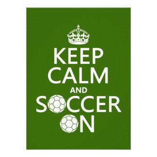 Behållalugn och fotboll på anpassade tillkännagivande