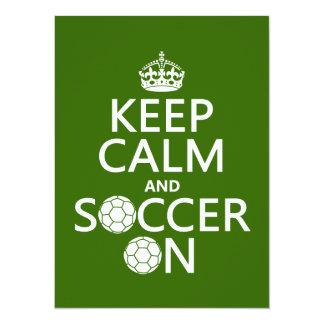 Behållalugn och fotboll på