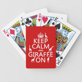 Behållalugn och giraff på (skräddarsy färger), spelkort