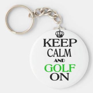 Behållalugn och Golf på Rund Nyckelring