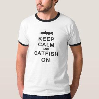 Behållalugn och havskatt på -- RingerT-tröja Tee