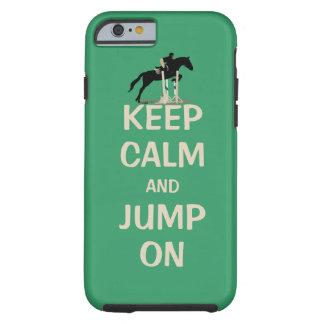 Behållalugn och hopp på häst tough iPhone 6 case