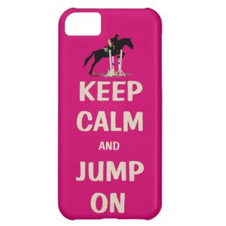 Behållalugn och hopp på rosa häst iPhone 5C skal