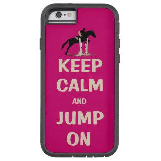 Behållalugn och hopp på rosa häst tough xtreme iPhone 6 fodral