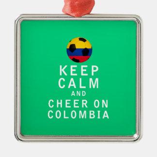 Behållalugn och jubel på Colombia Julgransprydnad Metall